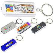 """Voyager FC"" PhotoImage ® Full Colour Imprint Slim Keyholder Keylight with Bright White LED Light"