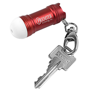 Mini Bubble LED Aluminum Keychain Light with Lobster Clip