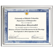 "Magnetic Clear on Clear Acrylic Certificate Frame (10 1/4"" x 12 1/4"")"