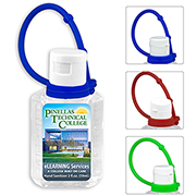 2 oz HAND SANITIZER GEL WITH COLOURFUL SILICONE CARRY STRAP