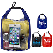 """The NavagioL"" 5.0 Liter Water Resistant Dry Bag With Clear Pocket Window"