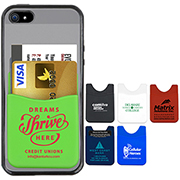 """Banker""Soft Silicone Cell Phone Wallet"