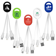 """Ogden"" 2-in-1 Charging Cable For Cell Phones and Tablets"