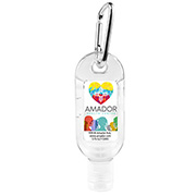 1.8 oz Hand Sanitizer Antibacterial Gel in Flip-Top Bottle with Carabiner