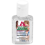 """SanPal S"" .5 oz Compact Hand Sanitizer Antibacterial Gel in Flip-Top Squeeze Bottle"