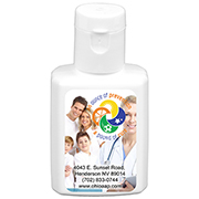 """SunFun"" .5 oz Broad Spectrum SPF 30 Sunscreen Lotion In Solid White Flip-Top Squeeze Bottle"
