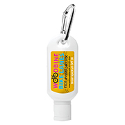 1.0 oz Broad Spectrum SPF 30 Sunscreen Lotion in Solid White Carabiner Tottle