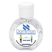 """CirPal"" 1 oz Compact Hand Sanitizer Antibacterial Gel in Round Flip-Top Squeeze Bottle"