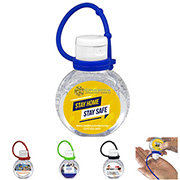 1 oz.Hand Sanitizer Antibacterial Gel with Adjustable Silicone Carry Strap - Full Color Imprint