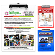 """McQuary FC"" Letter Size Clipboard with PhotoImage ® Full Colour Imprint* and Metal Spring Clip"