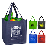 "12-1/2"" W x 13"" H - ""Mega"" Grocery Shopping Tote Bag"