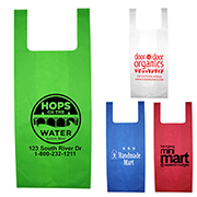 "12"" W x 22-1/2"" H - ""Caveat"" Everyday Lightweight T-Shirt Style Grocery Shopping Tote Bag"