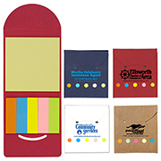 """Rocklin"" Recycled Sticky Notes and Flags Booklet"