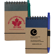 Arcata Recycled Jotter Notepad Notebook with Recycled Paper Pen