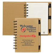 """Cruz"" Larger Size Recycled Jotter Notepad Notebook with Recycled Paper Pen"