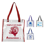 "12"" W x 12"" H - Clear PVC Stadium Compliant Tote Bag"