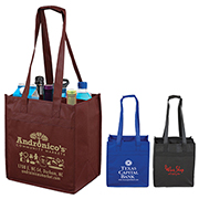 "10"" W x 11"" H ""The Sonoma"" 6 Bottle Wine Tote Bag"