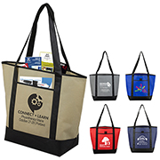 "17-1/2"" W x 13-1/2"" H - ""The City Life"" Beach, Corporate and Travel Boat Tote Bag"