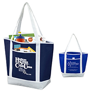 "17-1/2"" W x 13-1/2"" H - ""The Liberty"" Beach, Corporate and Travel Boat Tote Bag"