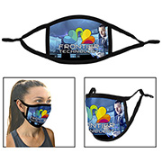 Full Colour Sublimation 3-Ply Adjustable Face Mask with Flexible Nose Bridge Wire