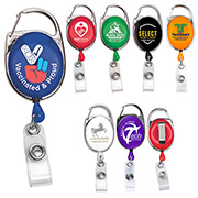 "30"" Cord Retractable Carabiner Style Badge Reel and Badge Holder (Patent D539,122)"