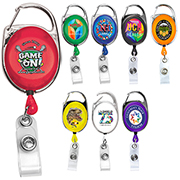 "30"" Cord PhotoImage ® Full Colour Imprint* Retractable Carabiner Style Badge Reel and Badge Holder (Patent D539,122)"