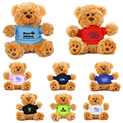 """Ted T. Bear"" 6"" Plush Teddy Bear With Choice of T-Shirt Colour"