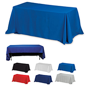8' 3-Sided Economy Table Covers & Table Throws