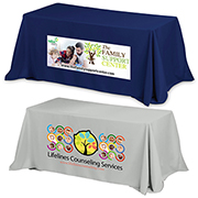 8' 3-Sided Economy Table Covers & Table Throws (Photoimage Full Colour)
