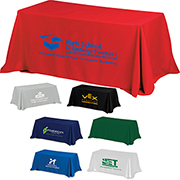 6' 4-Sided Throw Style Table Covers & Table Throws (Spot Colour)
