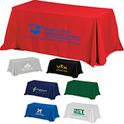 8' 4-Sided Throw Style Table Covers & Table Throws (Spot Colour)