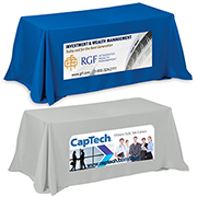 8' 4-Sided Throw Style Table Covers & Table Throws (PhotoImage Full Colour)