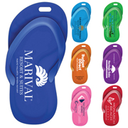 """Flipper"" Stock Shape Sandal Luggage Bag Tag† with Printed ID Panel"